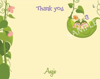 Pea in a Pod Thank You Card - Two Peas in a Pod Thank You Card - Three Peas in a Pod Thank You Card - Pea in a pod note card - Pea in a pod