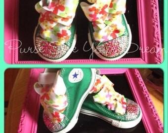 Custom Swarovski Crystal Rhinestone Shoes - Bling Sparkle Shoes - Infant/Toddler/Youth/Adults - Rhinestone Converse - Swarovski Converse