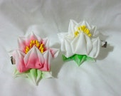 Tattoo inspired lotus kanzashi flower - choose one