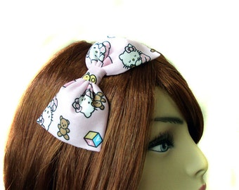Pink Bedtime Hello Kitty Hair Bow