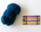 TEXTURED WOOL BATTING - Baltic Blue - 1 oz. fiber for needle felting , spinning , wet felting, and nuno felting