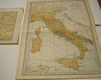 Vintage 1920s Rome Italy maps 1924 Ancient Historical Rome