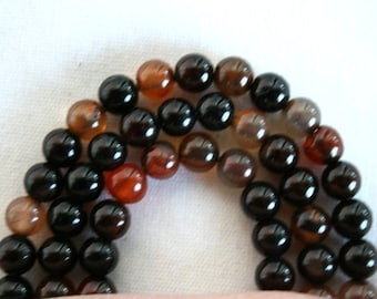 6 mm Natural Agate Semi Precious Gemstone Beads