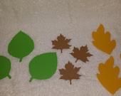 Fall Leaf Paper Cut-outs