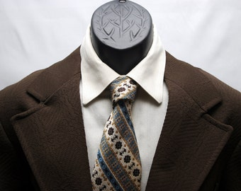 Vintage Men's Jacket Chocolate Brown Double Knit Blazer Size 40