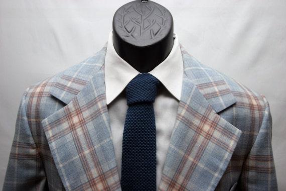 Hommes veste vintage carreaux bleu orange et blanc golf blazer for Veste a carreaux homme