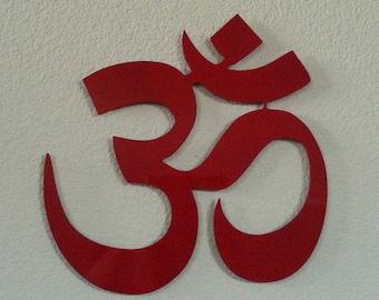 Yoga Om metal wall art