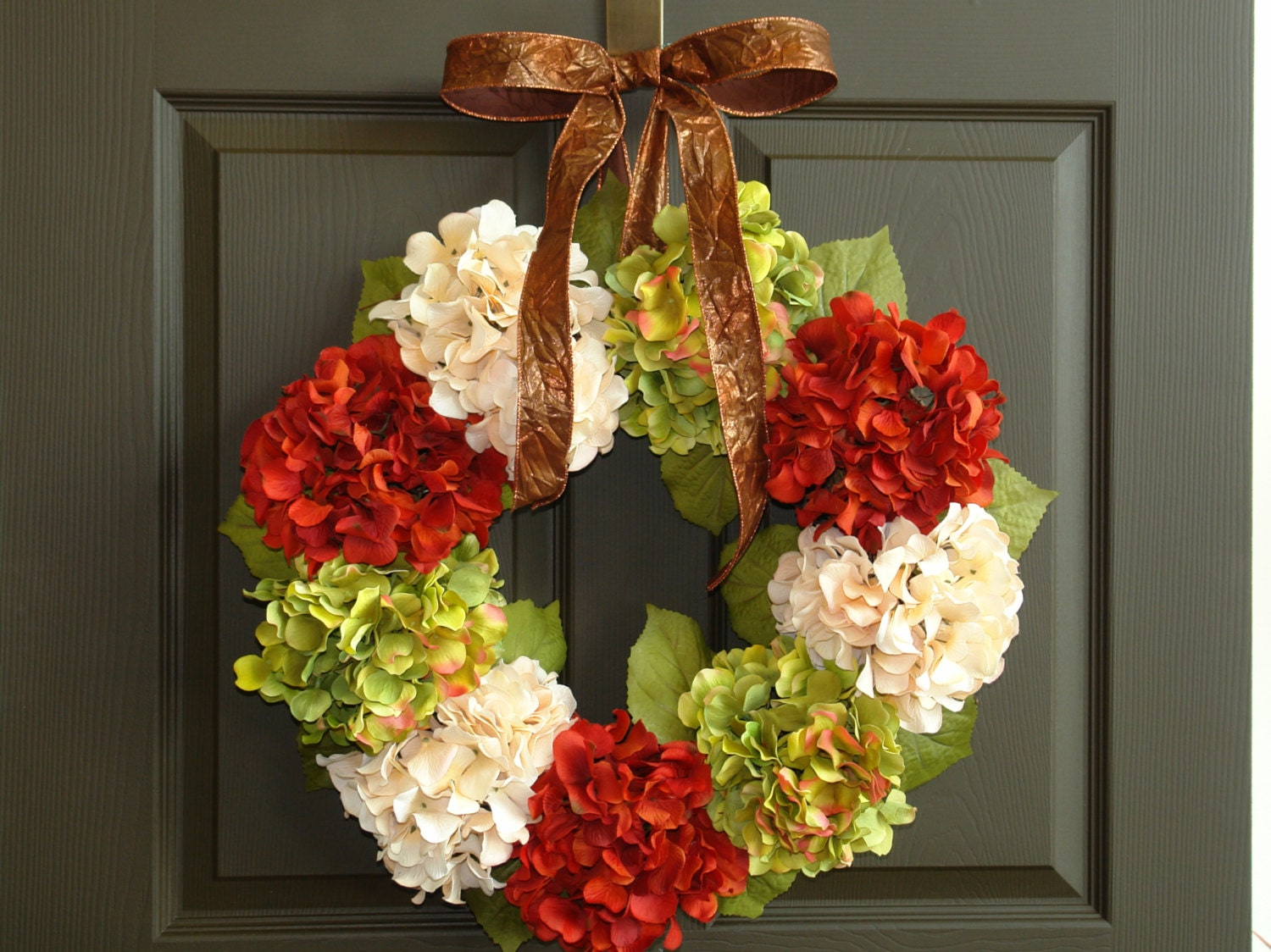 Fall wreaths fall wreath hydrangea front door wreath by Fall autumn door wreaths