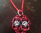 Spider-Man Chainmaille Pendant, includes necklace