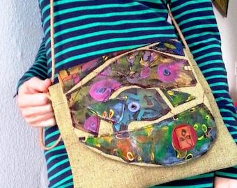 A unique handmade purse/bag