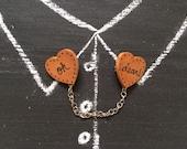 Oh Dear! Heart Shaped Collar Clips