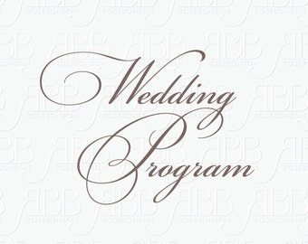 Matching Wedding Program
