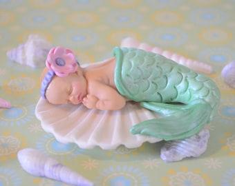 Little Baby Mermaid Cake Topper