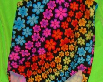 Gymnastics leotard Toddlers, Girls and Women Neon rainbow of flowers
