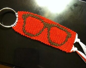Nerd Glasses Keychain