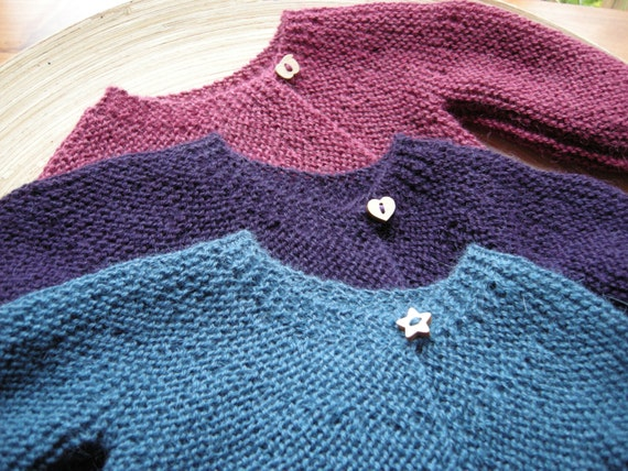 ANKA - Vintage inspired baby sweater - 100% alpaca - made to order - choose size, color and buttons - free shipping worldwide