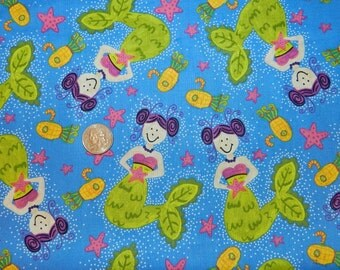 Extra Ordinary World Mermaids - Fabric by the Yard