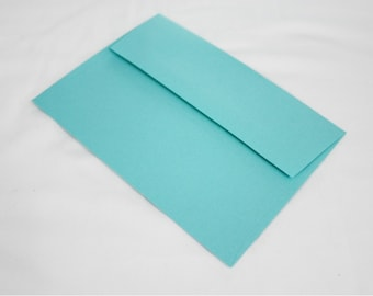50 Aqua Blue 4x6 Invitation Envelopes - set of 50 - size A6 4-3/4 x 6-1/2