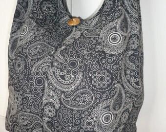 Hobo Cross Body Bag, Sling bag, Hobo Bag  Purse Thai Printed Cotton