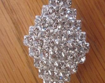 Vintage Rhinestone Bridal Brooch, Sash Bridal Brooch, Wedding Brooch, Engagement, Bridal Bouquet, Anniversary, Birthday