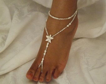 Barefoot Sandals Pearl Starfish Barefoot Jewelry Antlet