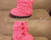 Furrylicious Boots, Baby boots, Baby Slippers, Crochet Booties, Slipper Boots, Crib Shoes, Crochet Slippers, Baby shoes, Crochet Shoes