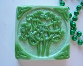"Glycerin Soap ""Celtic Shamrock Soap"" Christmas Gift, St Patrick's Day, Spring, Gifts,Bath, Birthday Gifts, ACOFT,  OFG team, SKIRT team"