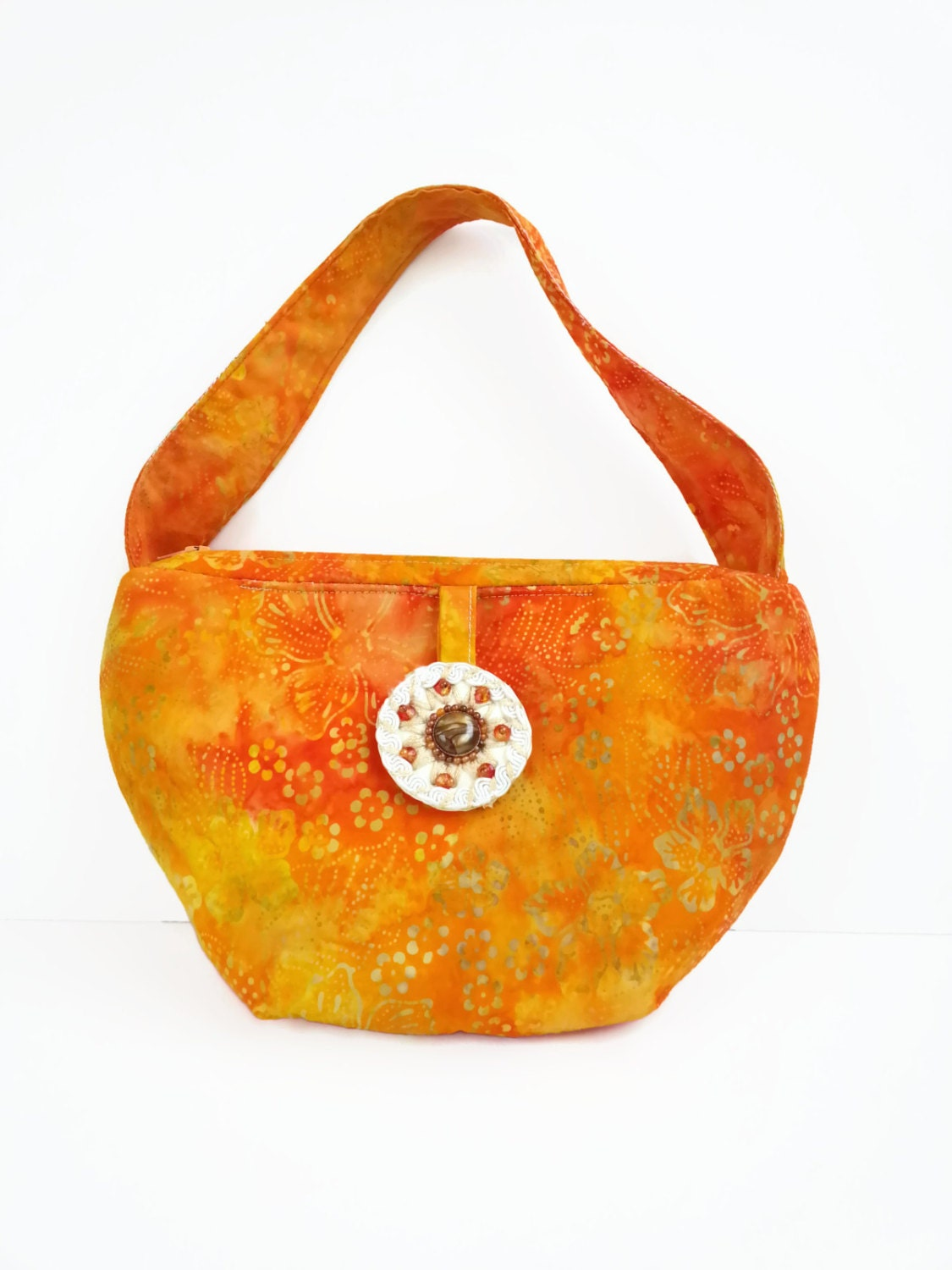Orange Tie Dye Purse in my Gypsy Girl Fashions Shop