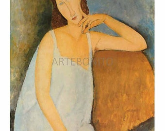 Amedeo Modigliani 'Portrait of J. Hebuterne in blue shirt' limited edition & numbered