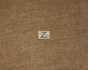 "Solid Corduroy Fabric - KHAKI - 60"" Width Sold By The Yard"