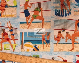 """Sun Surf Sand By Wilmington Prints 100% Cotton Fabric - 45"""" Width Sold By The Yard (FH-903)"""