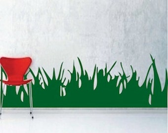 Grass Wall Decals Etsy - Wall decals grass