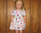 "Birthday Cupcake Dress for your 18"" American Girl Doll"