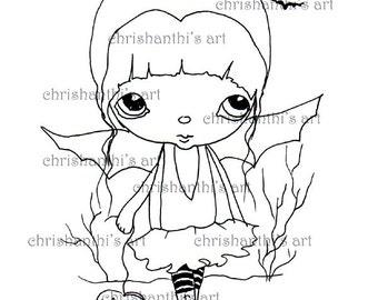 INSTANT DOWNLOAD Digital Digi Stamps..by Chrishanthi's art,Batgirl.