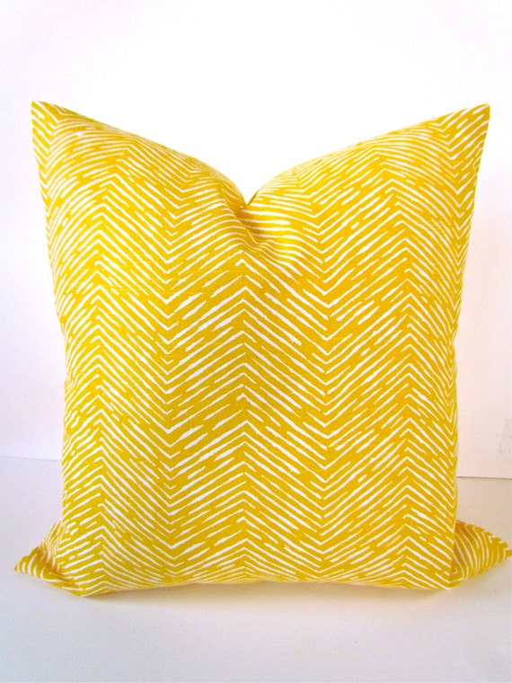 Yellow Decorative Bed Pillows : YELLOW PILLOW Throw Pillow Cover YELLOW Decorative Throw