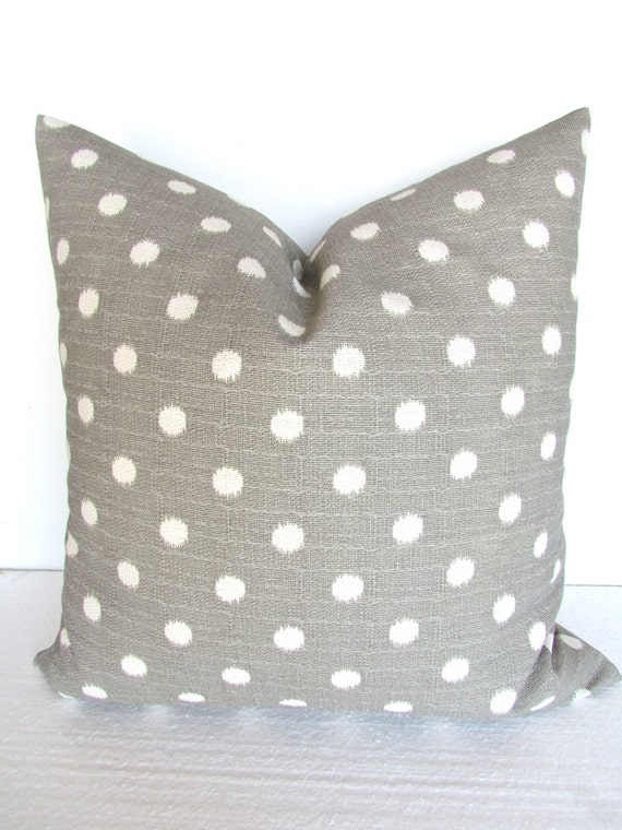 Items similar to GRAY PILLOWS Grey Throw Pillow Covers Gray ikat Decorative Throw pillows 14x14 ...