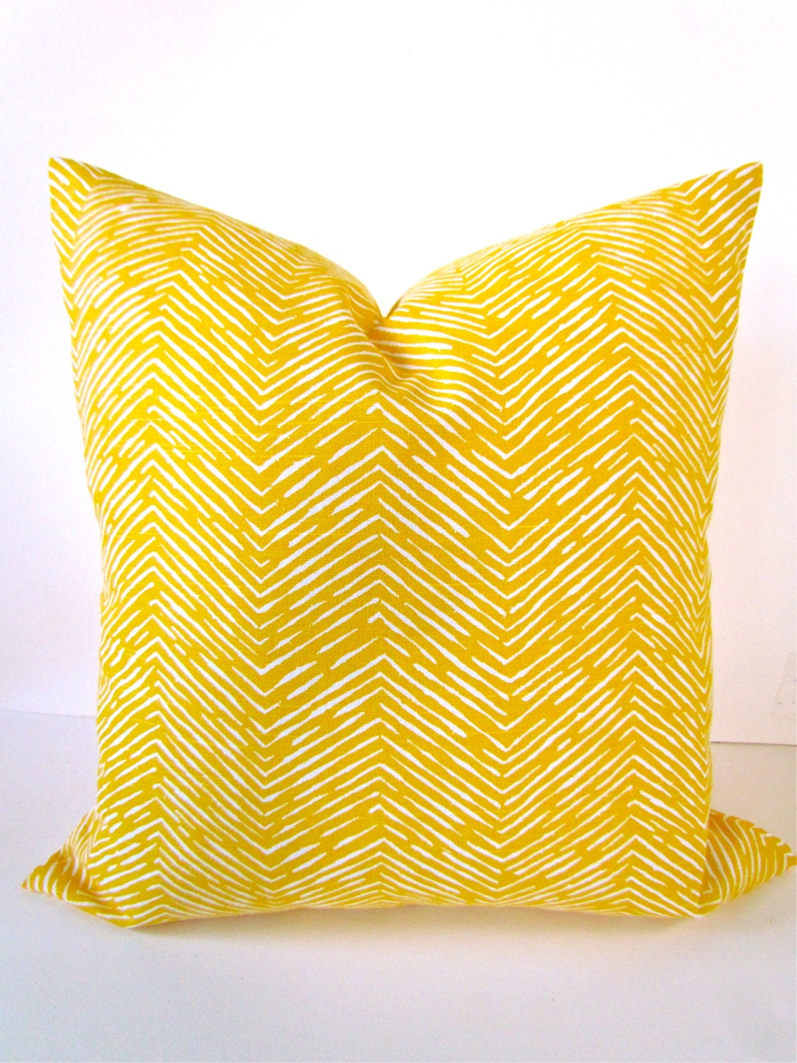 YELLOW PILLOW Throw Pillow Cover YELLOW Decorative Throw