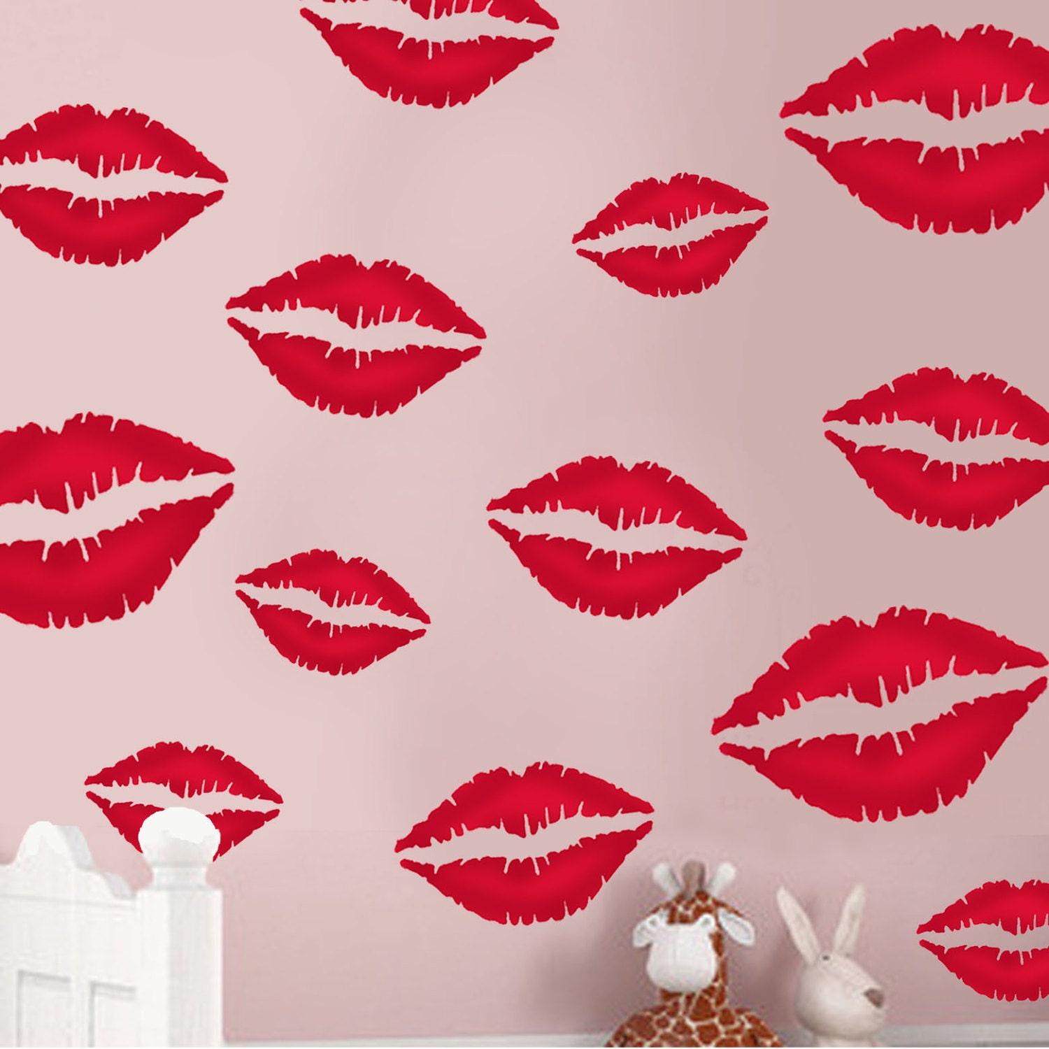Wall stencils lips kissing painting stencil ideal for zoom amipublicfo Images