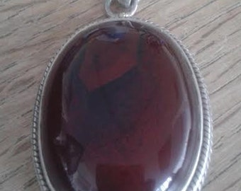 Vintage Incredible Carnelian Sterling Silver Pendant