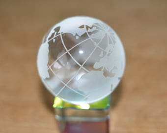 Small Glass Globe Paper Weight