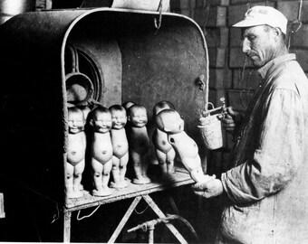 Doll Painter, 1920 - Vintage Photo Art Print, Ready to Frame!