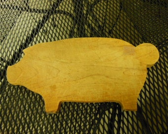 Vintage Pig Cutting Board Great Kitchen Decoration Barbeque Restaurant Wall or Counter Display Sign Hog Wild Country Home Lake House Cabin