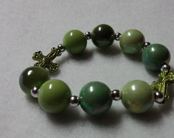 Little Girls Charm Bracelet,Girls Jewelry,Girls Bracelet,Cross Charm,Acrylic Beads,Purple Beads