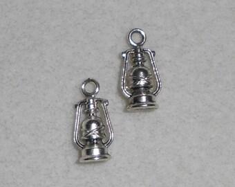 Silver Lantern Charms