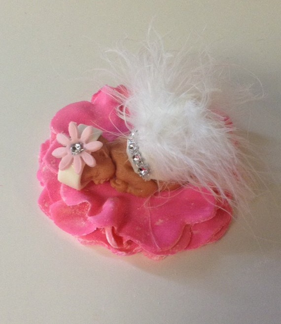 Items similar to PRINCESS BABY SHOWER Cake Topper Fondant ...