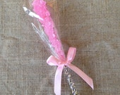 CUSTOM listing for Maxine Custom Hot Pink Rock Candy Blinged Lollipop Favors
