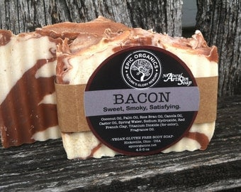 BACON-Soap-Vegan-Gluten Free-Novelty-Unique-Gift-Men-Kitchen-Strange-