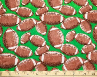 Football plush minky fabric - 1 yd cut