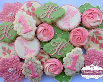 Shabby Chic Birthday Cookies