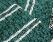 Knit Pattern Harry Potter Slytherin Scarf with Fringe